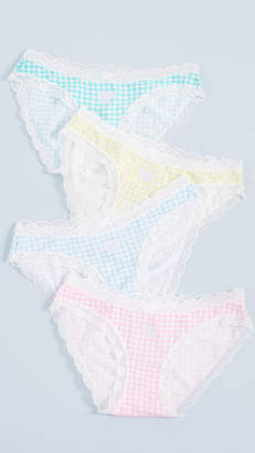 Stripe & Stare Gingham Bikini Briefs 4 Pack