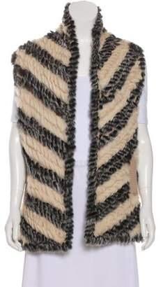 Marc by Marc Jacobs Striped Fur Vest