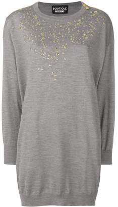 Moschino embellished sweater dress