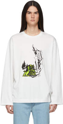 Our Legacy White Psychedelic Hunt Long Sleeve T-Shirt