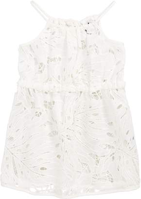 Milly Minis Tropical Embroidered Cover Up Dress