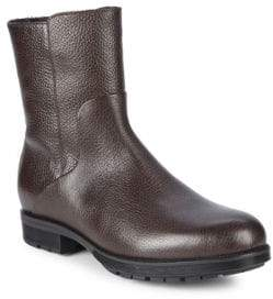 Aquatalia Locke Shearling-Lined Leather Ankle Boots