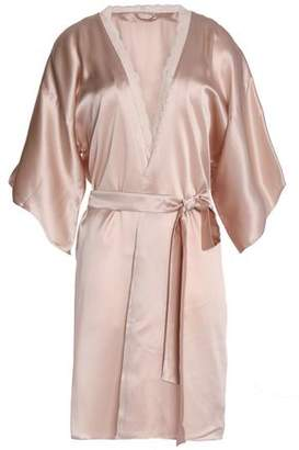 Stella McCartney Lace-Trimmed Silk-Satin Robe