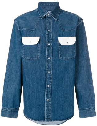 Calvin Klein Jeans contrast pocket denim shirt