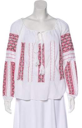 Of Two Minds Embroidered Woven Top