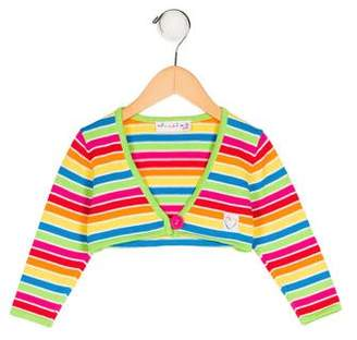 Agatha Ruiz De La Prada Girls' Striped Long Sleeve Shrug w/ Tags