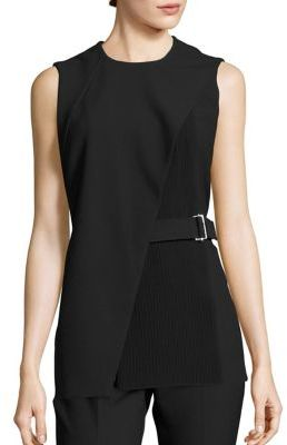 BOSS Iakila Ponte Belted Top $345 thestylecure.com