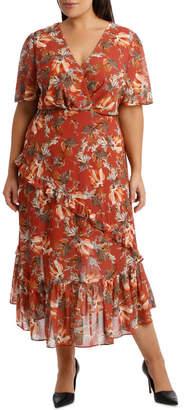 DAY Birger et Mikkelsen Dress Ruffle Sleeve Multi Print