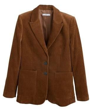 MANGO Corduroy structured blazer