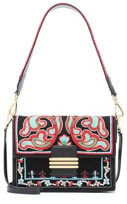 Etro Embellished Suede Shoulder Bag