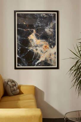 Debbie Carlos Black Marble Art Print