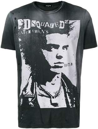 DSQUARED2 vintage print T-shirt