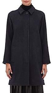 Giorgio Armani Women's Double-Faced Cashmere Melton Coat - Black