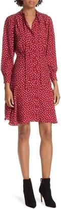 Rebecca Taylor Dot Print Fit & Flare Dress
