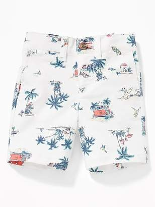 Old Navy Printed Built-In Flex Twill Shorts for Toddler Boys