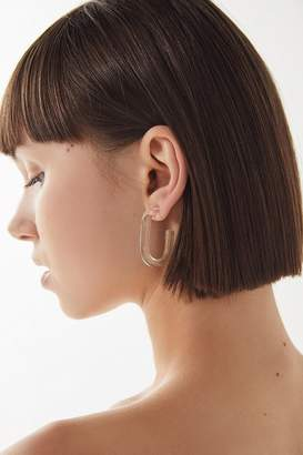 Urban Outfitters Gwen Clear Acrylic Hoop Earring
