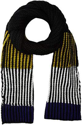 New Look Men's Highlight Colour 5419564 Scarf (Black Pattern), One (Manufacturer Size: 99)