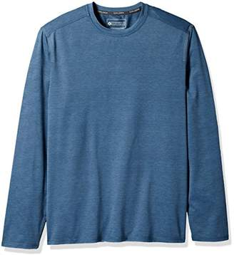 G.H. Bass & Co. Men's Performance Space Dyed Long Sleeve Jersey Crew