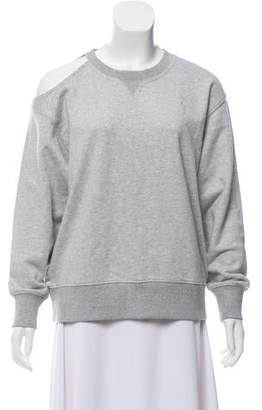 Jason Wu Grey by Crew Neck Cold-Shoulder Sweater