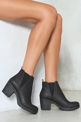 Nasty Gal A Little Less Conversation Vegan Leather Boot