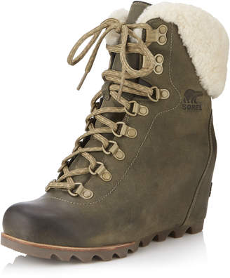 Sorel Conquest Shearling Wedge Boot