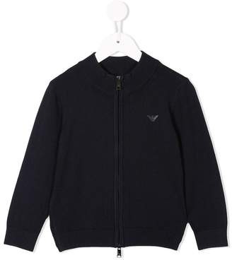 Emporio Armani Kids high collar full-zip jacket