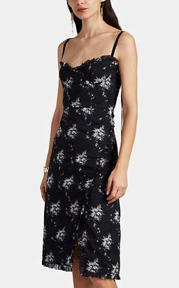 Brock Collection Women's Osanna Blurred-Floral Cotton Voile Midi-Dress - 001-Black