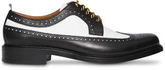 Burberry Brogue Detail Two-tone Leather Derby Shoes