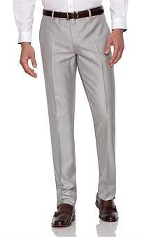 Uber Stone Flat Front Wool/Pol Twill Plain Trouser