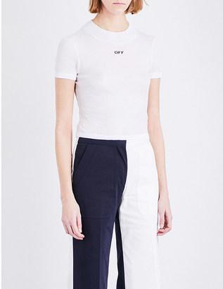 Off-White C/O Virgil Abloh Basic Off cotton-jersey T-shirt $200 thestylecure.com