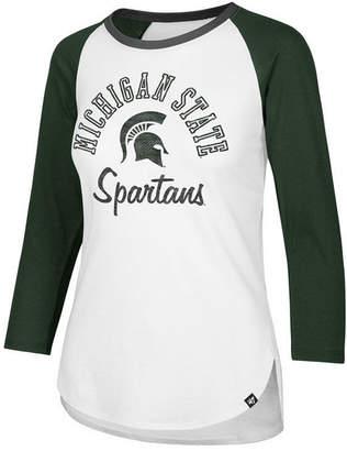 '47 Women's Michigan State Spartans Script Splitter Raglan T-Shirt