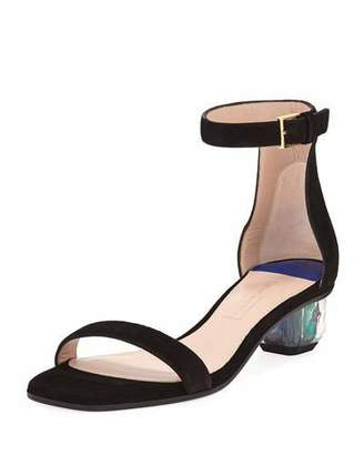 Stuart Weitzman Star Crystal Low Sandal
