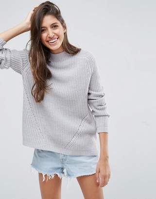 ASOS Ultimate Chunky Sweater With Slouchy High Neck $40 thestylecure.com