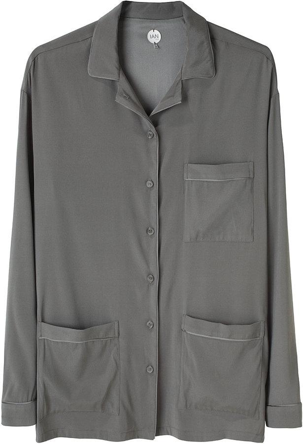 Ian R.N / Piped Long Sleeve Blouse