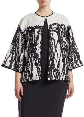 Marina Rinaldi Marina Rinaldi, Plus Size Graphic Print Jacket