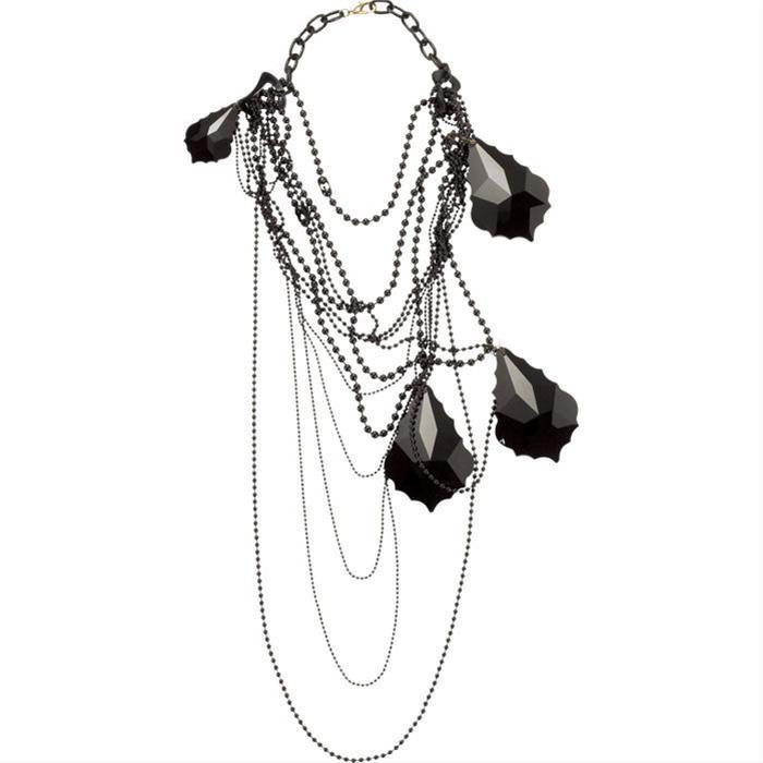 Black Crystal Necklace by Subversive Jewelry