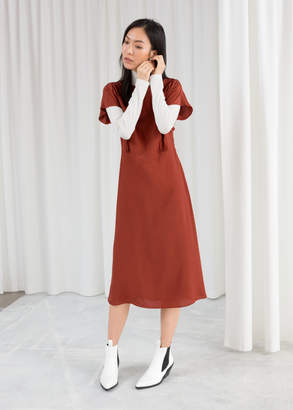 And other stories Short Sleeve Midi Dress