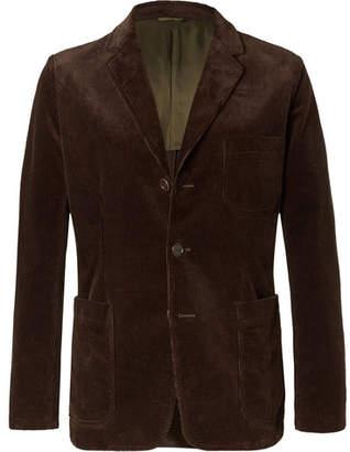 Aspesi Brown Slim-Fit Cotton-Corduroy Blazer