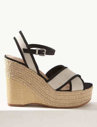 Marks and Spencer Wedge Heel Crossover Espadrille Sandals
