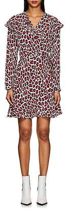 Robert Rodriguez Women's Lena Leopard-Print Wrap Dress - Red