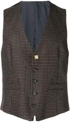 Lardini houndstooth waistcoat