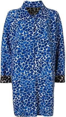 Norma Kamali reversible mosaic overcoat