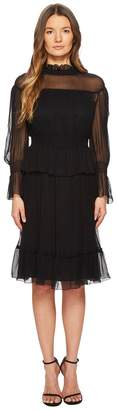See by Chloe Silk Crepon Dress with Ruffles