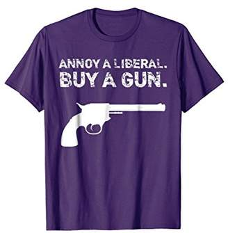 """Annoy A Liberal. Buy A Gun."" T-Shirt"