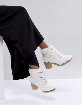 Asos WISTERIA Premium Faux Shearling Boot