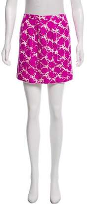 Balenciaga Silk Abstract Skirt