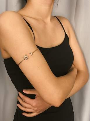 Shein Sun & Moon Detail Cuff Bracelet 1pc