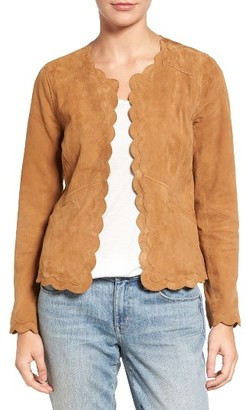Women's Chelsea28 Scalloped Suede Jacket $199 thestylecure.com