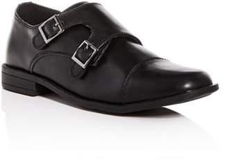 Steve Madden Boys' Chaaz Leather Double Monk Strap Loafers - Little Kid, Big Kid