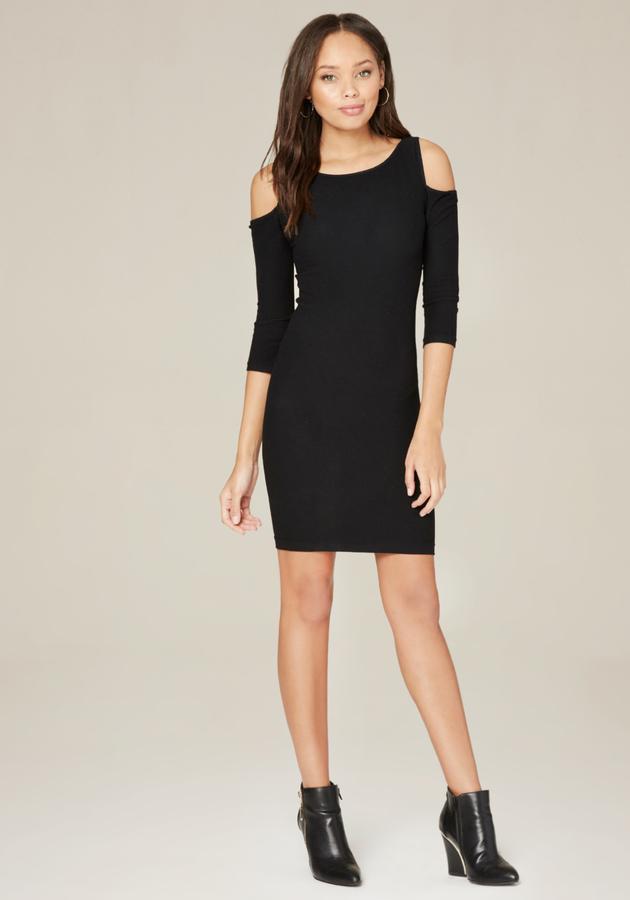 BebeCold Shoulder Bodycon Dress